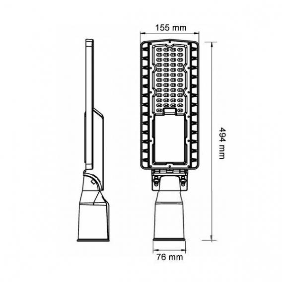 LED pouličné svietidlo 50 W