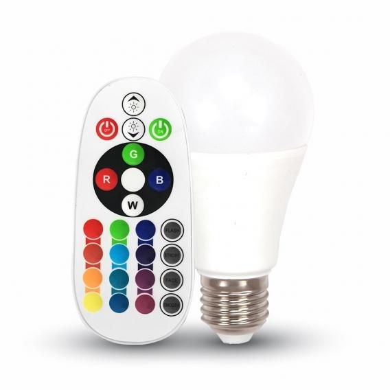 RGB LED žiarovka E27 s výkonom 6 W
