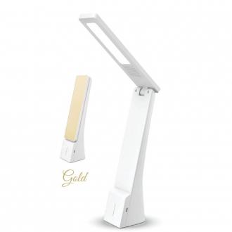LED stolová lampa skladacia prenosná 4 W biela