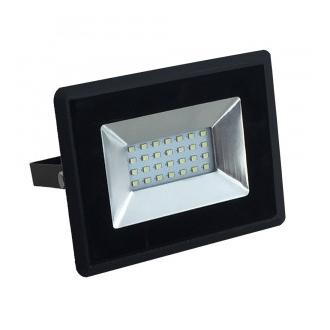 Reflektor LED 20W 6500K čierny