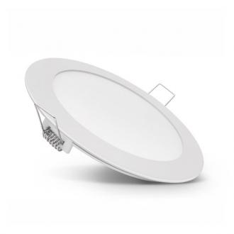 Sklenený okrúhly zapustený LED panel 18W 4500K